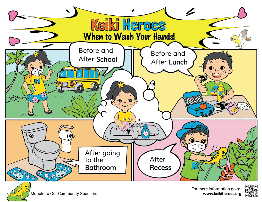 When To Wash Hands 11″x17″ Color Poster