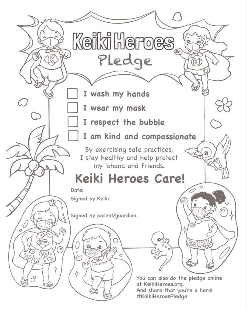 Keiki Heroes Pledge (black-white)