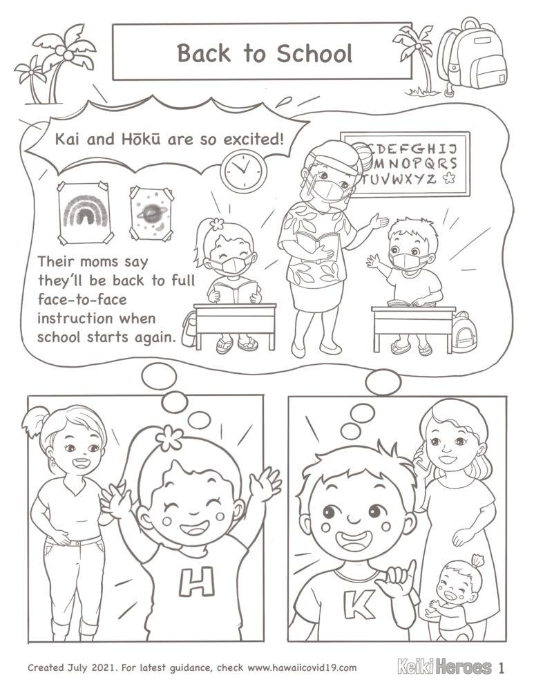 Kai And Hōkū Go Back To School – Comic Strip B/W