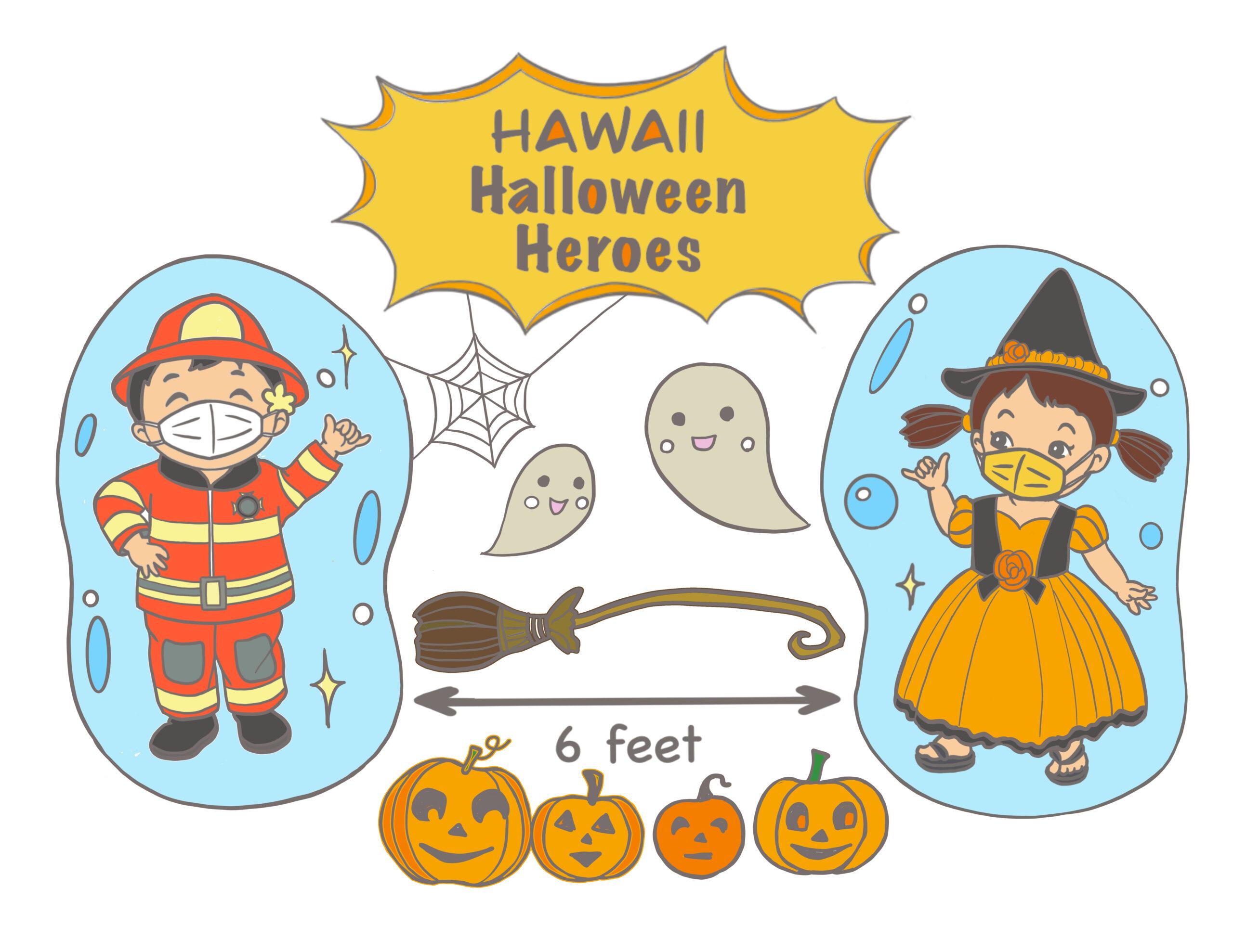 Halloween Heroes Coloring Sheets