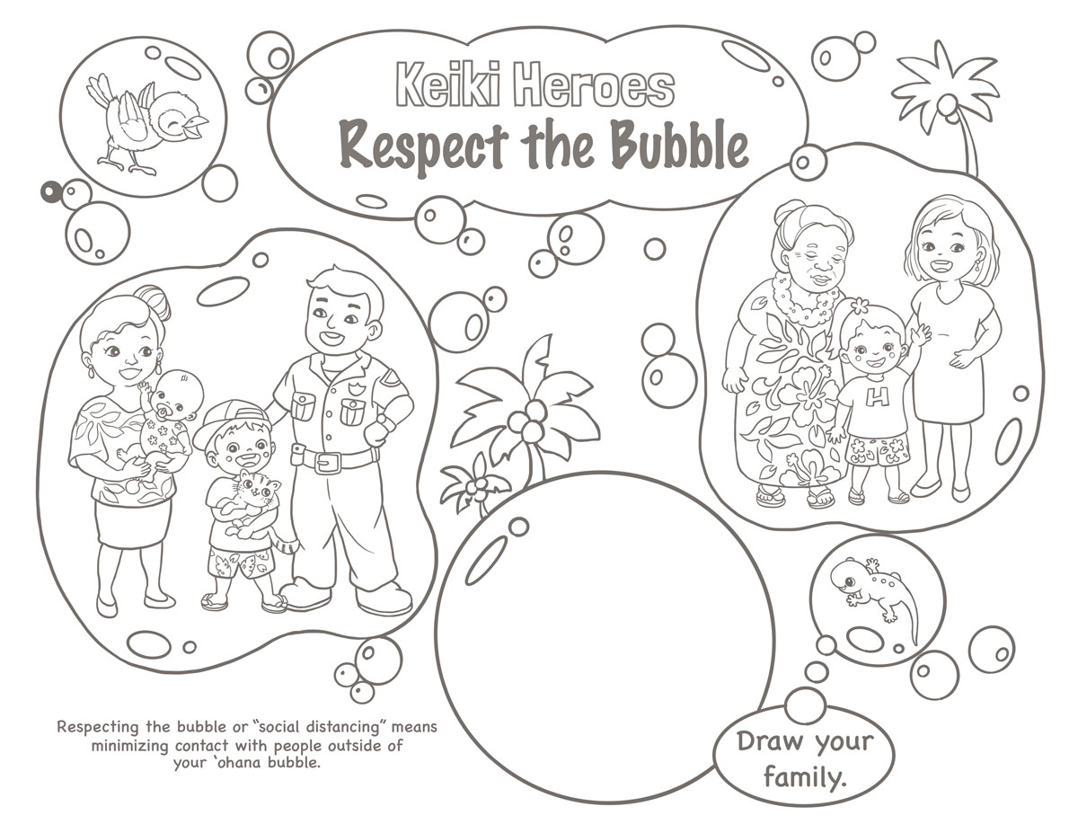 Respect The Bubble Coloring Sheet