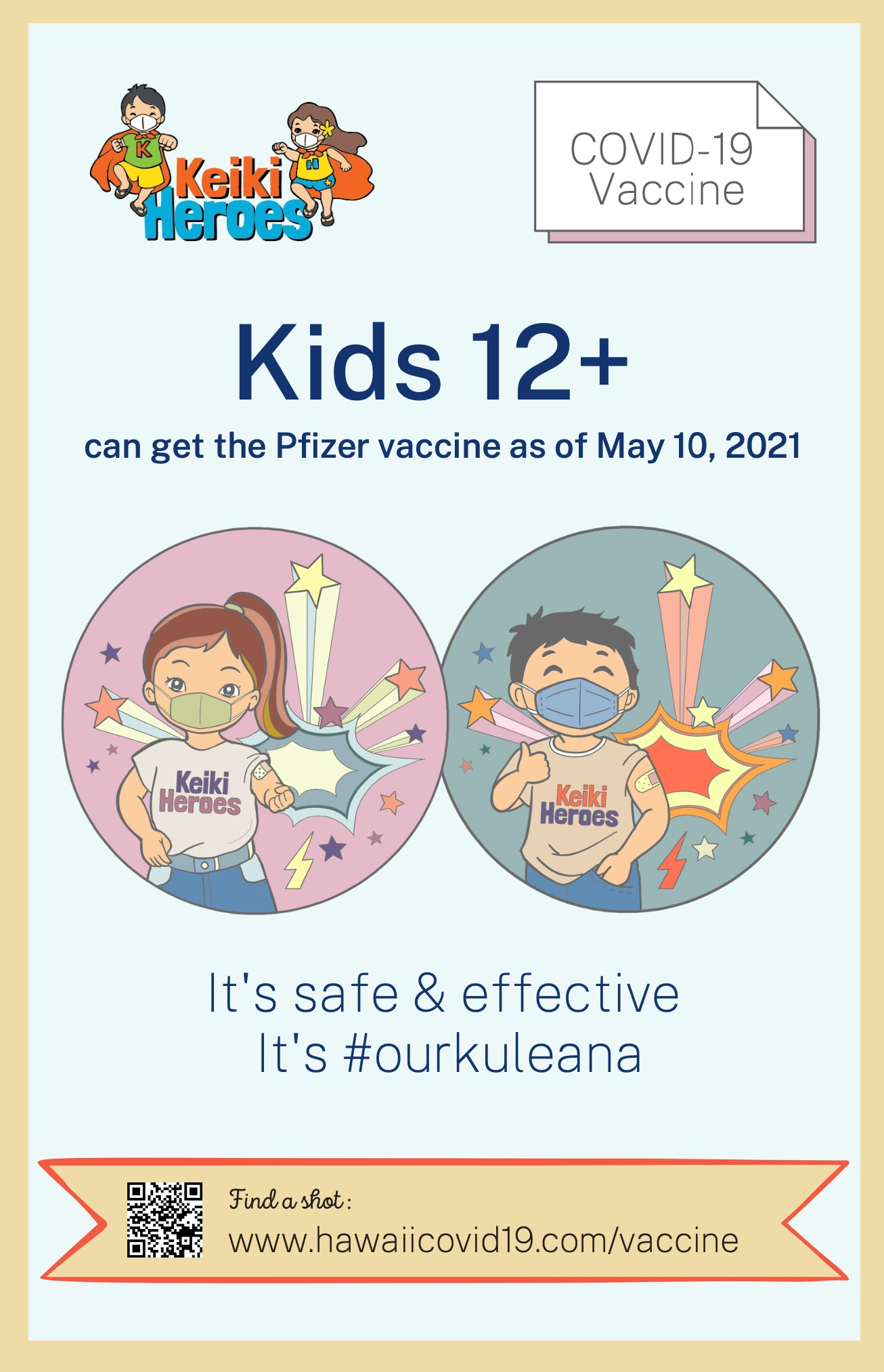 Vaccination For Keiki Posters